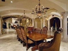 Grand dining room.