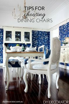 Tips for Choosing Dining Room Chairs.  How to find the right chair for your home.  Click to read the tips