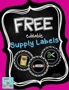 Free Editable Supply