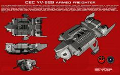 YV-929 armed freighter ortho [New] by unusualsuspex on DeviantArt