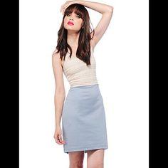 Jack BB Dakota Jann Dress Brand New. Never worn. Still has tag. Just doesn't fit me. Size: small Color: whitecap/ sky blue BB Dakota Dresses