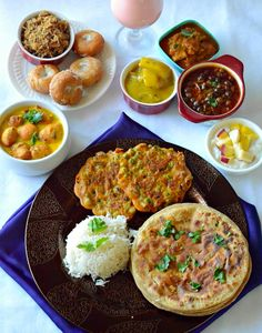 You searched for label/Thali Mela - Desi Fiesta Veg Recipes, Indian Food Recipes, Great Recipes, Vegetarian Recipes, Recipies Healthy, Veg Thali, India Food, Lunch Menu, Recipes From Heaven