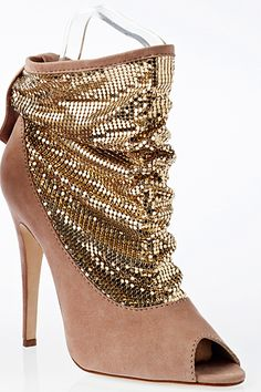 Brian Atwood Gold Sequin Summer Booties SS2012 #BrianAtwood #Shoes #Heels