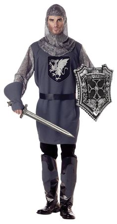 Valiant Medieval Knight Costume Adult
