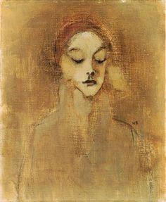 art-centric: Schjerfbeck, Helene (1862-1946) - 1920s The Gatekeeper's Daughter (Christie's London, 2001)