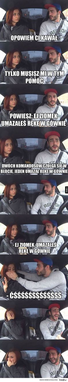Ta dziewczyna musi go naprawdę lubić Wtf Funny, Funny Cute, Funny Memes, Jokes, Bad Puns, Funny Stories, Smart People, Man Humor, Best Memes