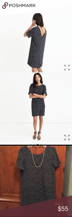 *1-hr sale!*Madewell Zip Back Dress in Dot Scatter Excellent used condition!  Only worn twice.  Runs slightly large / oversized (am normally a 6 at Madewell).  Necklace also available in separate listing. Madewell Dresses