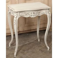 Antique Painted Furniture | Antique Occasional Tables | End Tables | Antique French Louis XV Walnut Painted End Table | www.inessa.com
