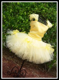 BELLE of THE BALL Beauty and the Beast Inspired 2pc Set with Satin Corset Top & Embellished Tutu. $85.00, via Etsy.