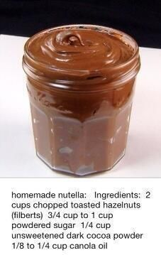 Homemade Nutella - thermomix I have to try this. We go thru so much Nutella! Köstliche Desserts, Delicious Desserts, Dessert Recipes, Yummy Food, Dessert Healthy, Think Food, Love Food, Yummy Treats, Sweet Treats