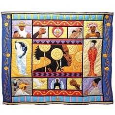 AFRICAN INFLUENCED QUILT.............PC........................ - Gold Coast Africa Product Information - THREADS THAT BIND QUILT