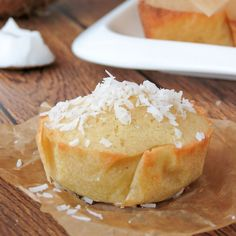 Try these individual sized bibingka muffins - the perfect version of a traditional Filipino dessert made with rice flour and coconut milk.