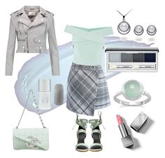 """""""50 shades of grey"""" by sia-gl ❤ liked on Polyvore featuring Chicwish, Coast, TIBI, Chanel, W118 by Walter Baker, Burberry, Clinique and Forever 21"""