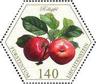 Stamp: Apples (Liechtenstein) (Old Fruit Varieties) Mi:LI 1770,Sn:LI 1778,Yt:LI 1709,Zum:LI 1721