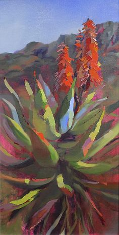 Aloes of Montagu R Seascape Paintings, Nature Paintings, Flower Canvas, Flower Art, Southwest Art, Art For Art Sake, Pallette, Art Oil, Art Pictures