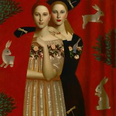 'Metamorphosis' by Russian painter Andrey Remnev Oil on canvas, 90 x 90 cm. Russian Painting, Russian Art, Contemporary Artists, Modern Art, Contemporary Artwork, Medieval Paintings, Illustration Art, Illustrations, Magic Realism
