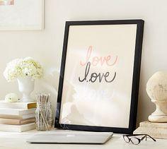Stephanie Sterjovski Framed Print: Love Love Love #potterybarn