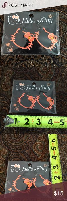 Hello Kitty earrings NWT Hello Kitty earrings NWT, what a better way to say I love you to your favorite Hello Kitty lover or a stocking stuffer?? Have fun with Hello Kitty. This kitty is part of a collection come check it out. Hello Kitty Accessories