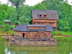 Natural camp has already been predestined for its location for the most various activities. It is situated in the closeness of the town Kolárovo Water Wheels, Cabin, House Styles, Home Decor, Decoration Home, Room Decor, Cabins, Cottage, Home Interior Design