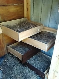 From old dresser drawers to nesting boxes! …