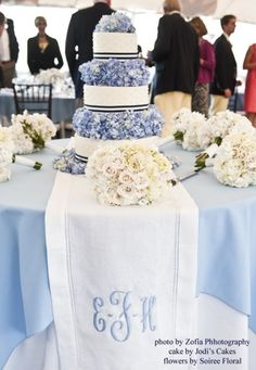Monogram Table Runner! Need this in Purple and burlap!