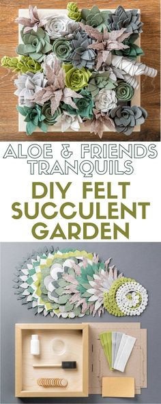 Aloe & Friends - Tranquils | DIY Felt Succulent Garden | Craft Kit | Succulents | Felt | Indoor