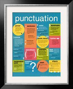 Punctuation Print at Art.com