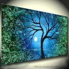 Ultra Scenic Landscape Oil Painting on Canvas (Stretched) ready to hang by Designer Paintings