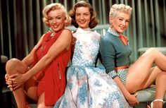 "Marilyn Monroe, Lauren Bacall, Betty Grable in How To Marry A Millionaire 1953  the original ""sex in the city"" girls"