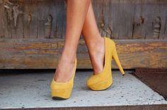 Sunflower Colored Heels
