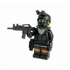SWAT Police Officer Assaulter Made With Real LEGO(R) Mini-Figure Parts