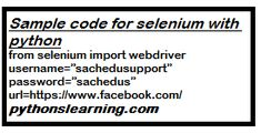 selenium python example code | python Selenium package is mostly used for automation like in web browsers. Or in detail, it is an open-source web-based automation tool. Table Of Contents Sample, Open Facebook, Web Browser, Open Source, Python, Coding, Detail, Programming