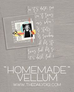Do you LOVE vellum?? In this tutorial, Janet shows us how to make our own digital vellum for any page!