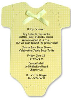 Onsie Baby Shower Invitation