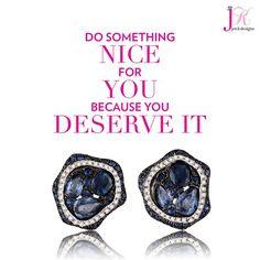 """#like if you deserve it! #sapphire #studs #sunday #new #spectacular #love @jenkpix""----------------------------------------- www.jenkdesignsny.com instagram: @jenkpix"