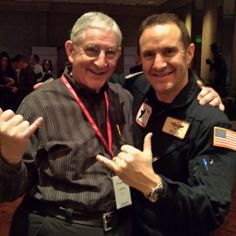 """We wanted to share this photo that one of our Distributors shared - he grabbed keynote speaker Lt. Col. (Ret.) Rob """"Waldo"""" Waldman the Wingman after his presentation for a quick photo op! Waldo had everyone so inspired! His book """"Never Fly Solo"""" reminds us that in business or life we should never fly solo, but his """"Push It Up!"""" message really got everyone excited!! -- www.sozoglobal.com"""