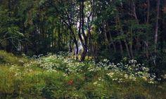 Цветы на опушке леса 1893 42х67. Иван Иванович Шишкин