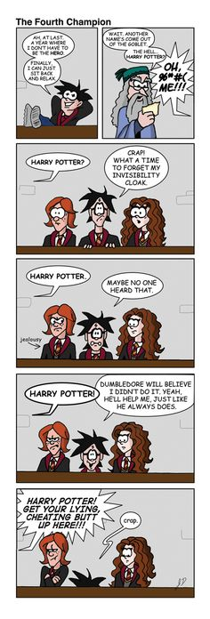 The Fourth Champion by wotchertonks7 on DeviantArt Harry Potter Goblet, Harry Potter Comics, Harry Potter Jokes, Harry Potter World, Draco Malfoy Aesthetic, Another A, Goblet Of Fire, Hogwarts, I Am Awesome