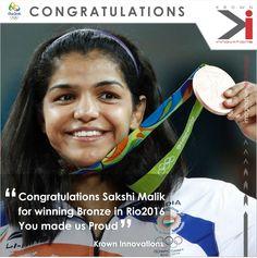 Congratulations Sakshi Malik.