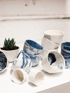 Gem vessels by Sydney ceramicist Milly Dent. Photo – Rachel Kara for The Design Files.