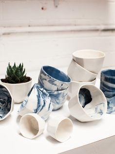 Gem vessels by Sydney ceramicist Milly Dent. Photo – Rachel Kara for The Design Files.