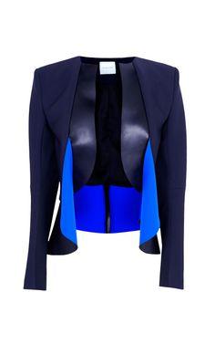 Falling Disc Leather Jacket by Dion Lee - Moda Operandi