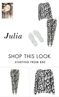 """""""Chuva"""" by machadomiih ❤ liked on Polyvore featuring Topshop and Havaianas"""