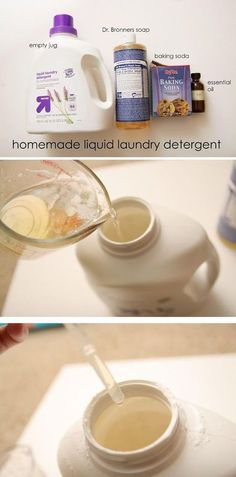Liquid Laundry Detergent Make some homemade all natural laundry detergent with just a few simple ingredients!Make some homemade all natural laundry detergent with just a few simple ingredients!