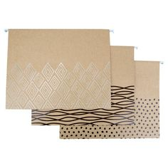 Hanging File Folders 6ct - Kraft - U Brands Graphic Patterns, Print Patterns, Hanging File Folders, Hanging Files, Office Art, Classroom Decor, Getting Organized, Filing Cabinet, Storage Spaces