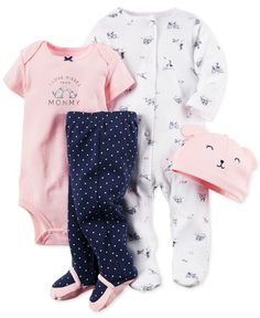 Carter's Baby Girls' 4-Piece Doggy Layette Set