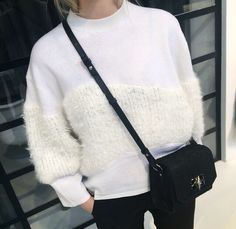Sweater. detail. nice. white. style. cozy.