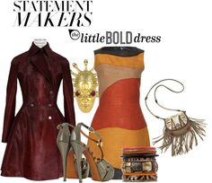 """My Style - The Little Bold Dress"" by latoyacl ❤ liked on Polyvore"