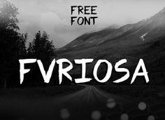 Fvriosa Font - handmade brush font, made  by Fausto Furioso. This font suited for use in advertising, for headlines, labels, tags, posters, etc.