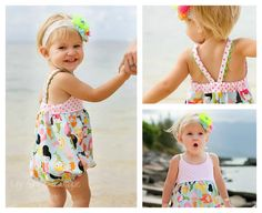 Hummingbird Romper girls' baby romper by RabbitRabbitCreation